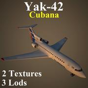YAK42 CUB 3d model