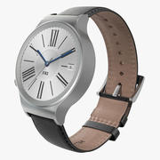 Huawei Watch 3 Leather Band 3D 모델 3d model