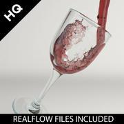 wijn gieten realflow 3d model