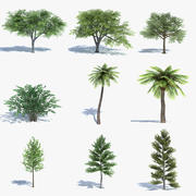 Low Poly Tree Set 3d model