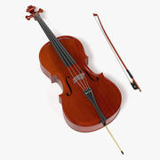 Cello and Bow 3d model