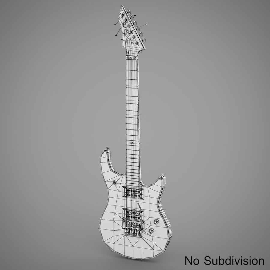 Electric Guitar royalty-free 3d model - Preview no. 9