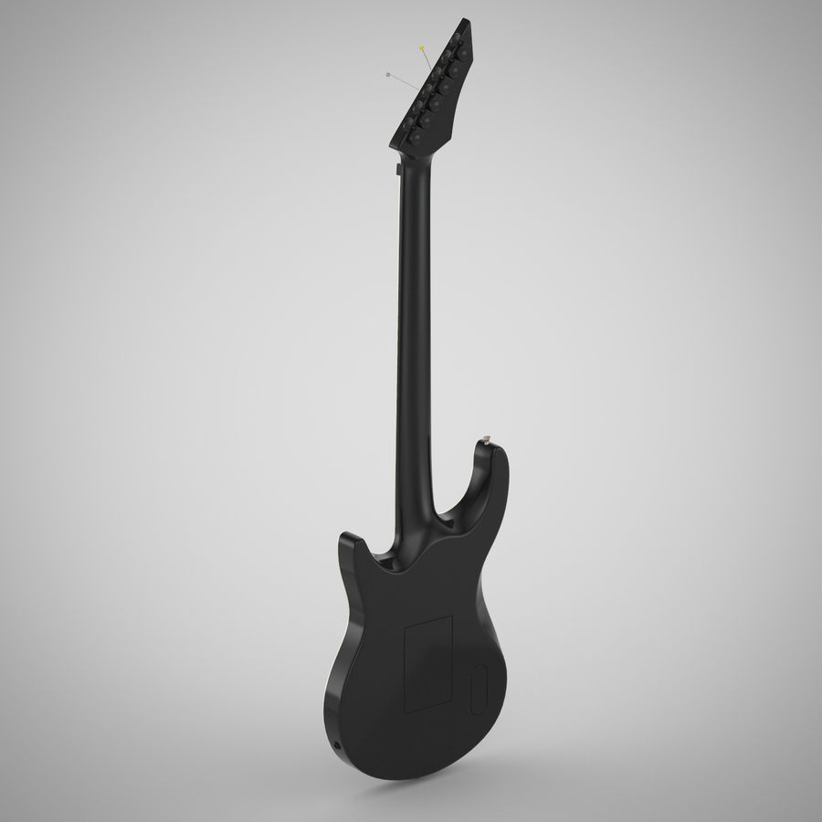 Electric Guitar royalty-free 3d model - Preview no. 3