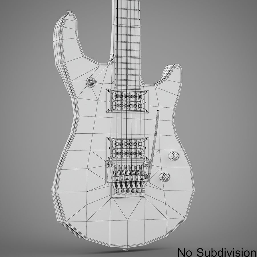 Electric Guitar royalty-free 3d model - Preview no. 14