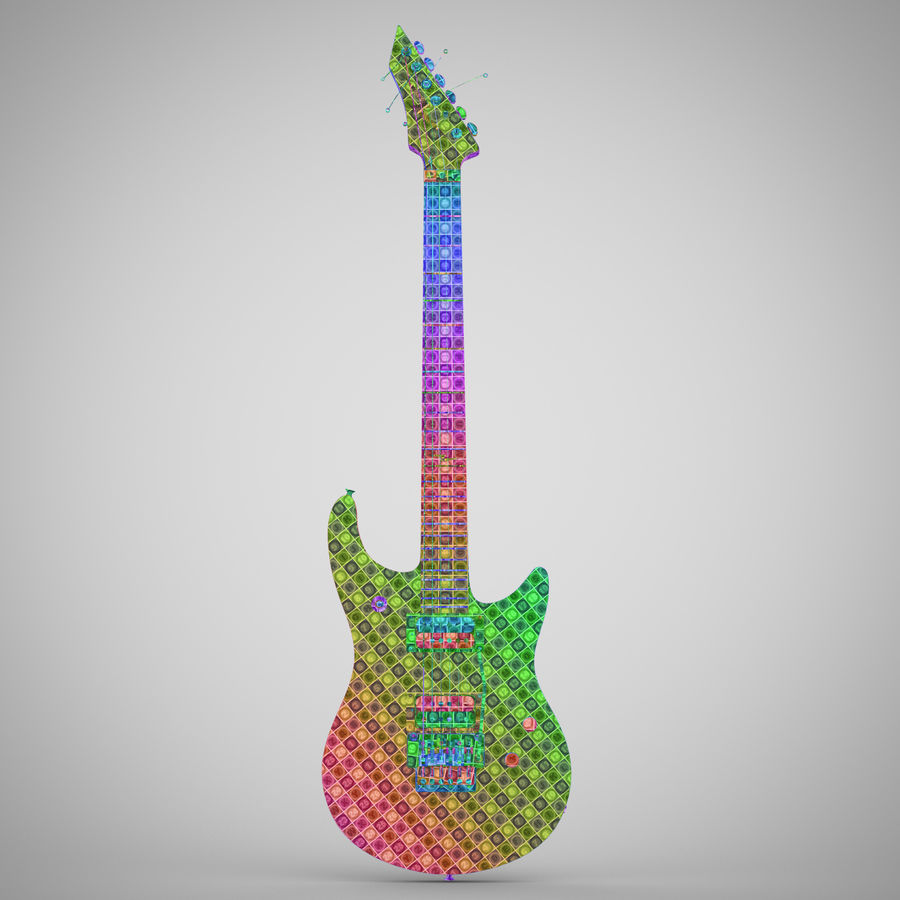 Electric Guitar royalty-free 3d model - Preview no. 25