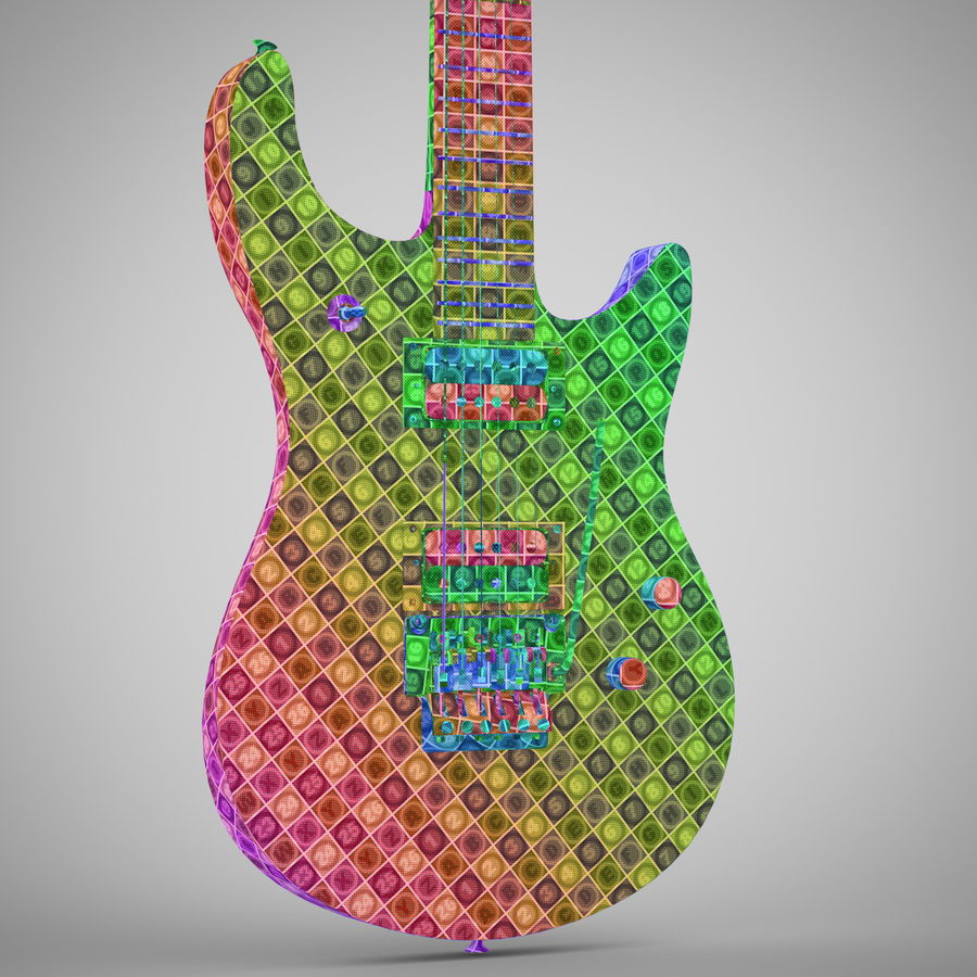 Electric Guitar royalty-free 3d model - Preview no. 27