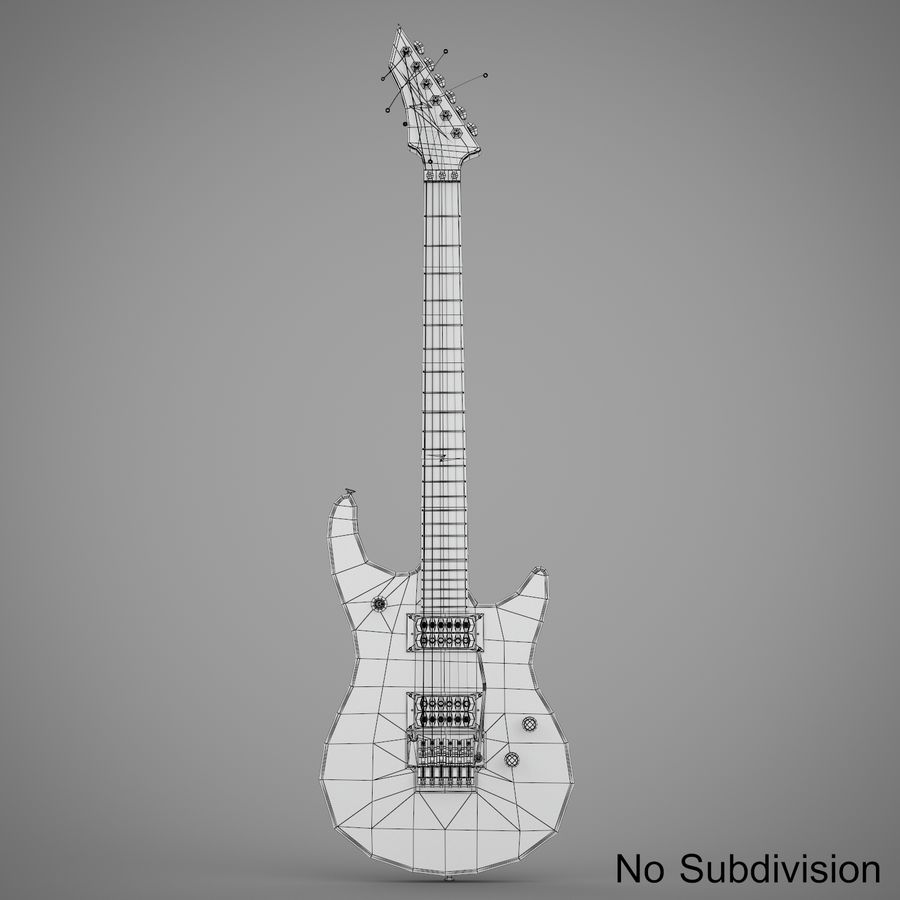 Electric Guitar royalty-free 3d model - Preview no. 12