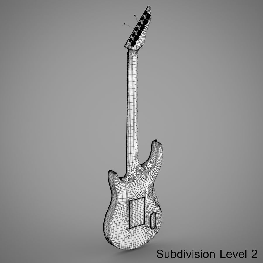Electric Guitar royalty-free 3d model - Preview no. 16