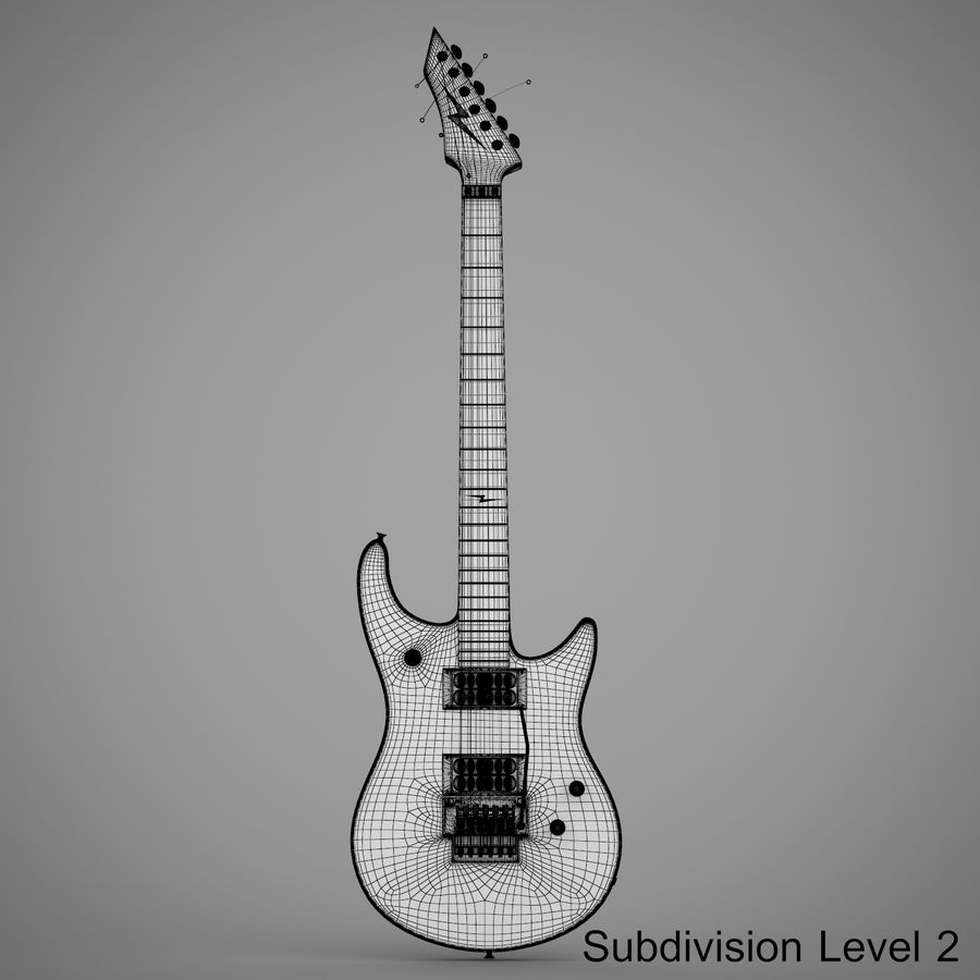 Electric Guitar royalty-free 3d model - Preview no. 18