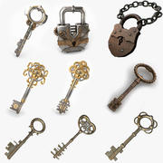 Keys and Locks 3d model