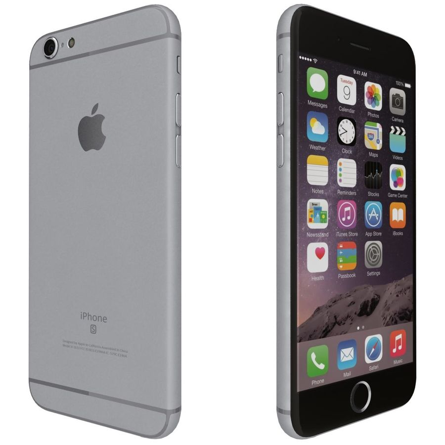 Apple iPhone 6s 모든 색상 royalty-free 3d model - Preview no. 35