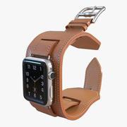 Apple Watch 헤르메스 커프 42mm 스테인리스 스틸 케이스 가죽 밴드 2 3d model