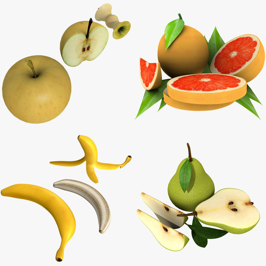 Fruit Collection royalty-free 3d model - Preview no. 1