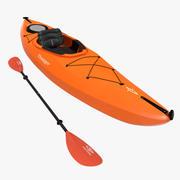 Kayak Naranja con Paleta modelo 3d