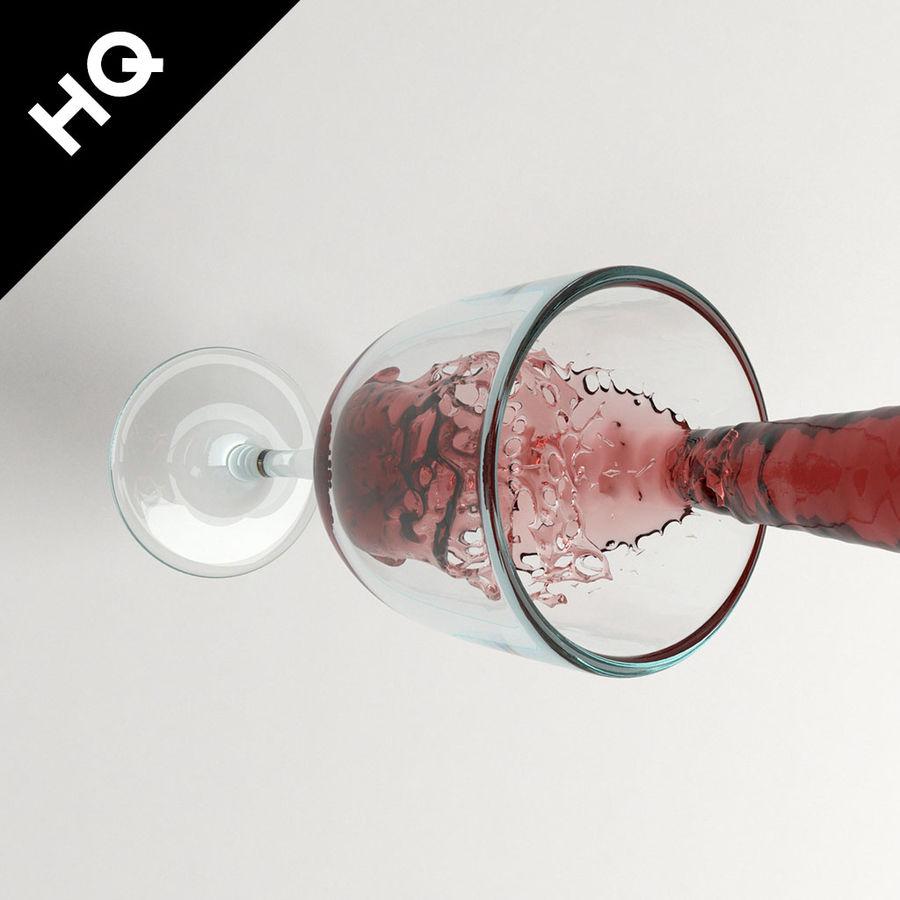 Confezione 4 versando il vino royalty-free 3d model - Preview no. 16