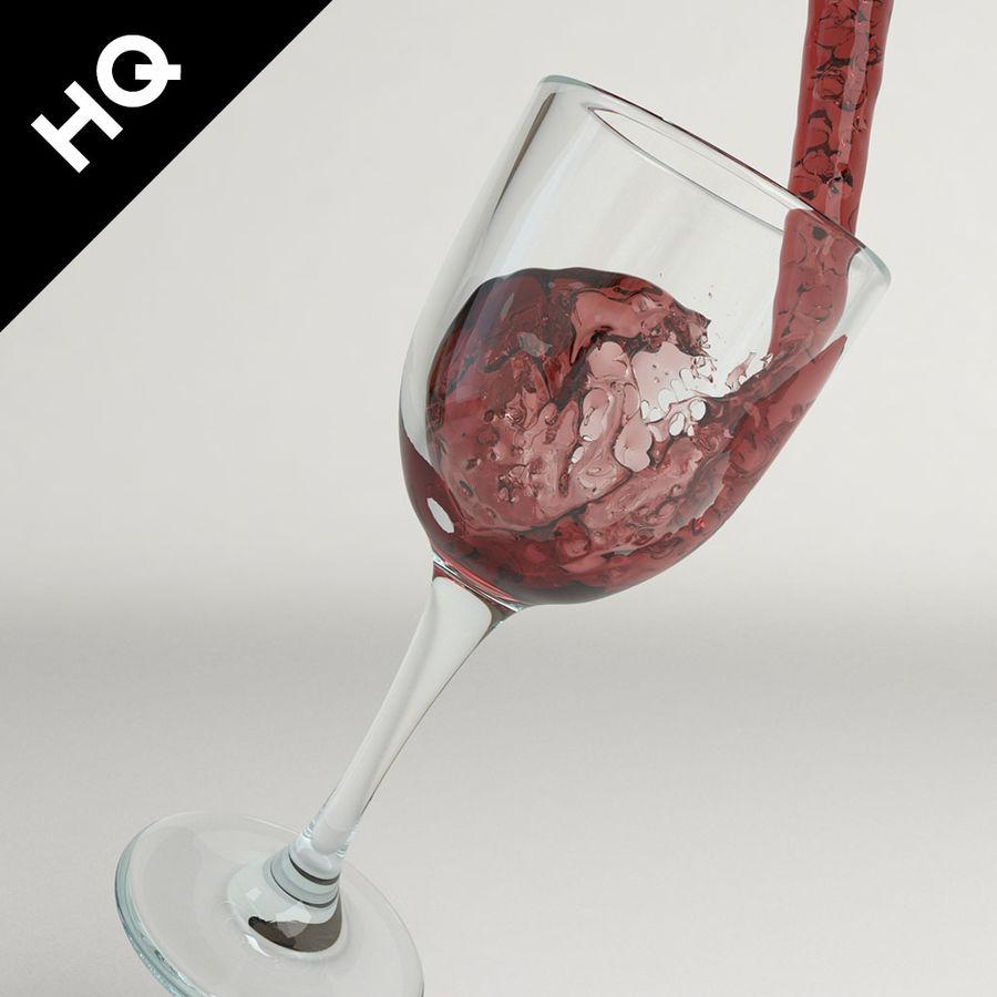 Confezione 4 versando il vino royalty-free 3d model - Preview no. 24