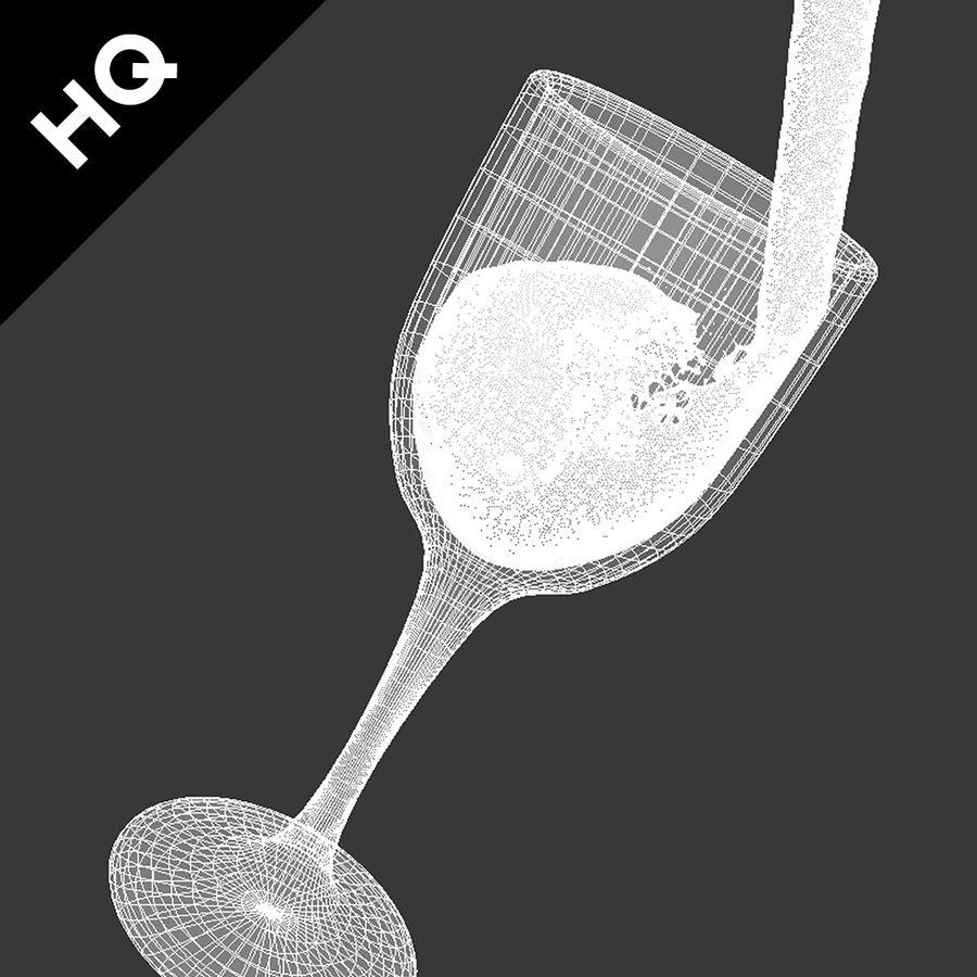 Confezione 4 versando il vino royalty-free 3d model - Preview no. 30