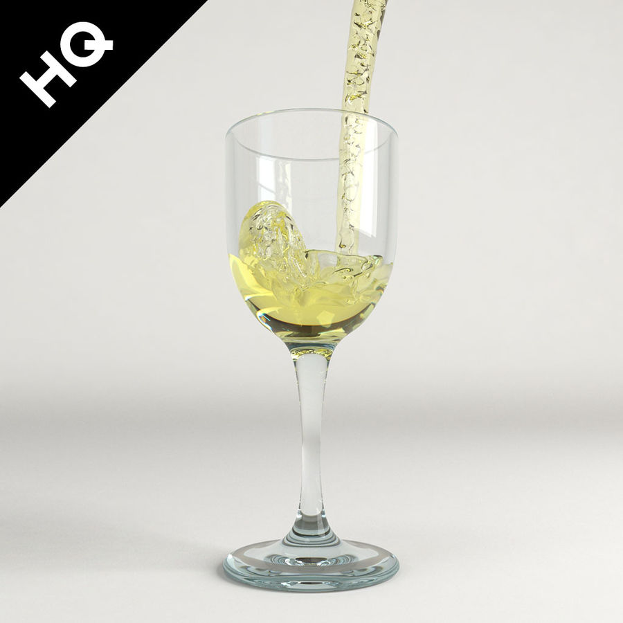 Confezione 4 versando il vino royalty-free 3d model - Preview no. 36