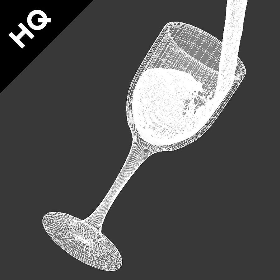 Confezione 4 versando il vino royalty-free 3d model - Preview no. 31