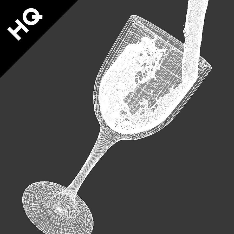 Confezione 4 versando il vino royalty-free 3d model - Preview no. 19
