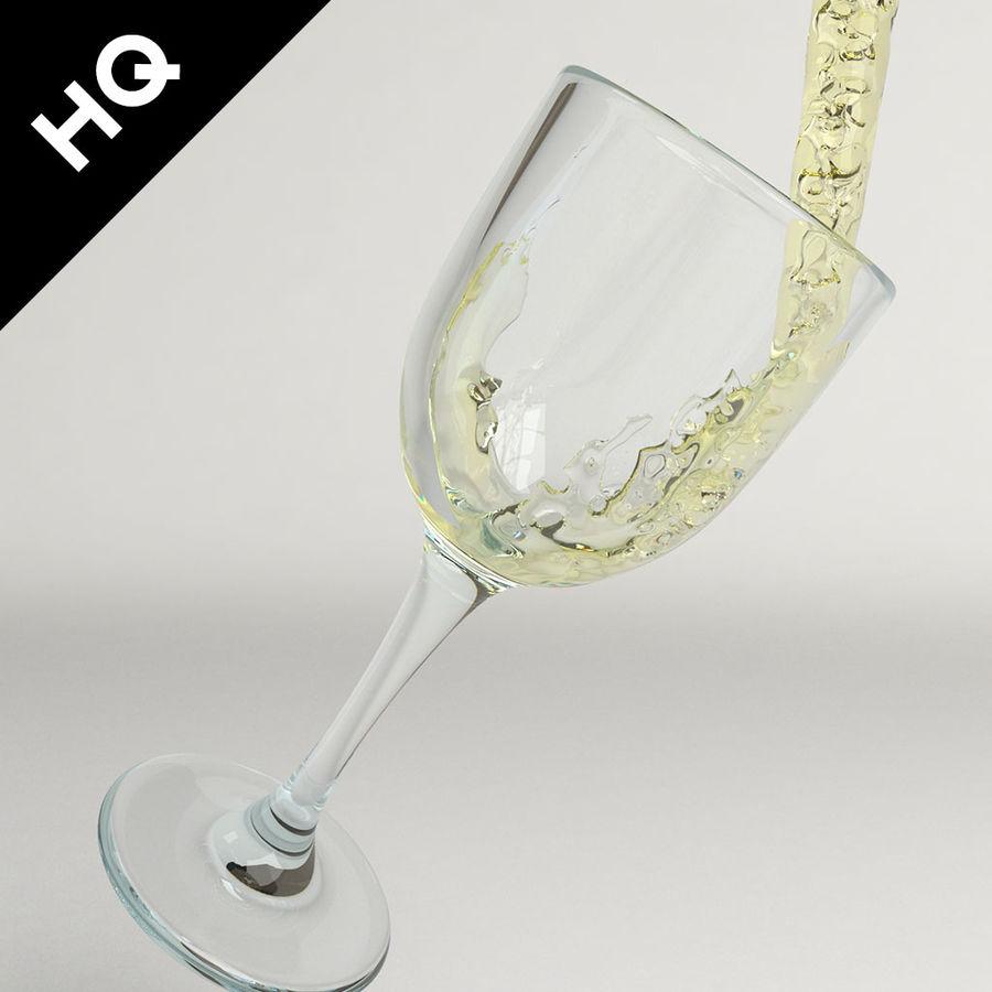 Confezione 4 versando il vino royalty-free 3d model - Preview no. 3