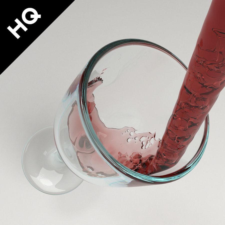 Confezione 4 versando il vino royalty-free 3d model - Preview no. 7