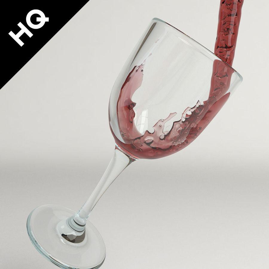 Confezione 4 versando il vino royalty-free 3d model - Preview no. 2