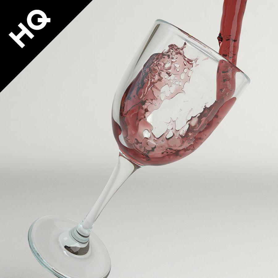 Confezione 4 versando il vino royalty-free 3d model - Preview no. 13