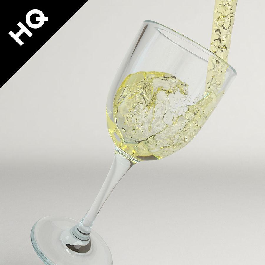 Confezione 4 versando il vino royalty-free 3d model - Preview no. 25