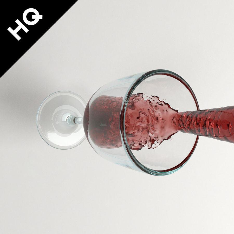 Confezione 4 versando il vino royalty-free 3d model - Preview no. 27