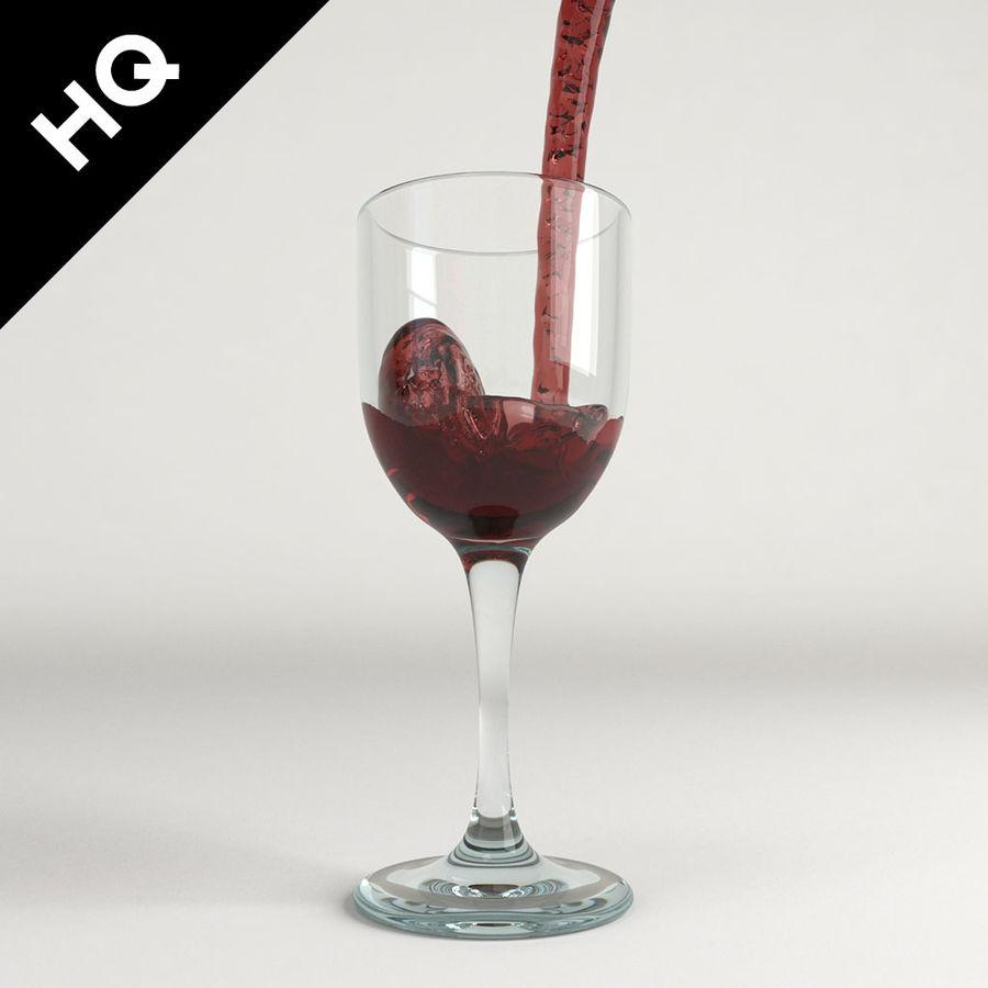 Confezione 4 versando il vino royalty-free 3d model - Preview no. 35