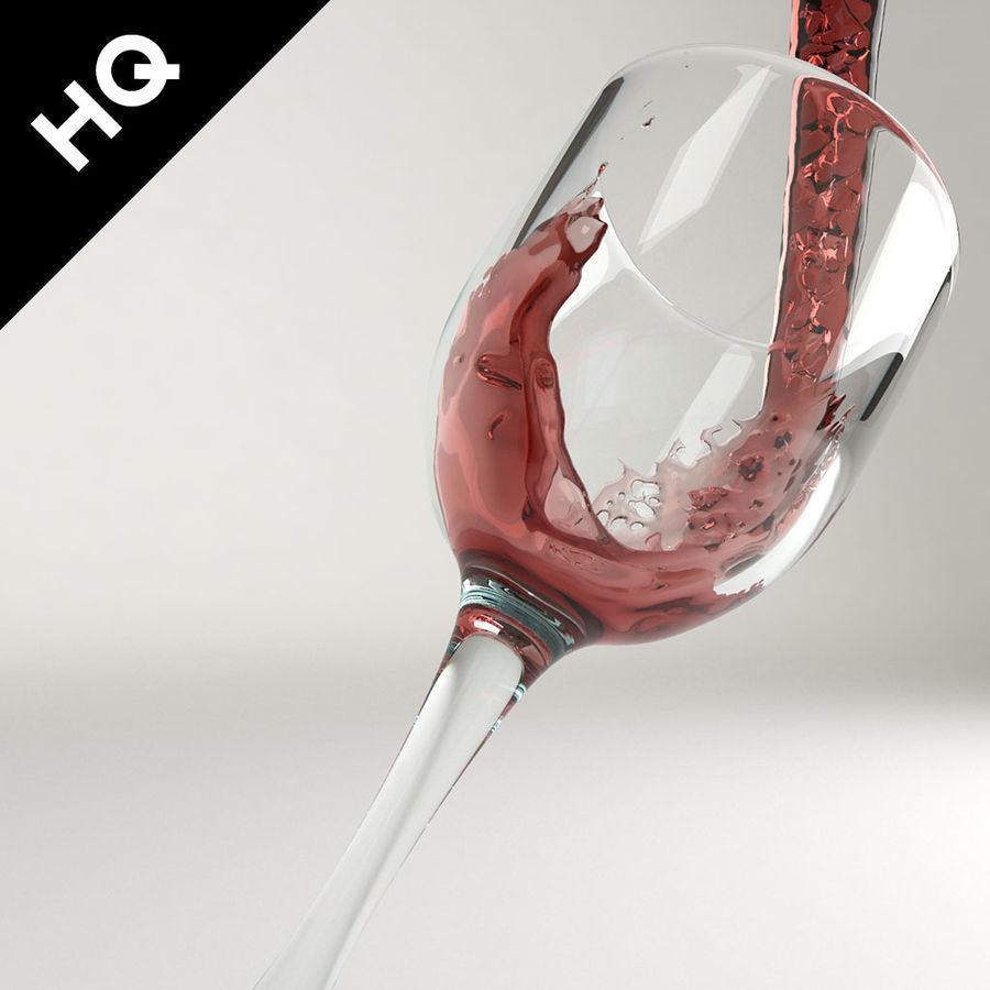 Confezione 4 versando il vino royalty-free 3d model - Preview no. 6