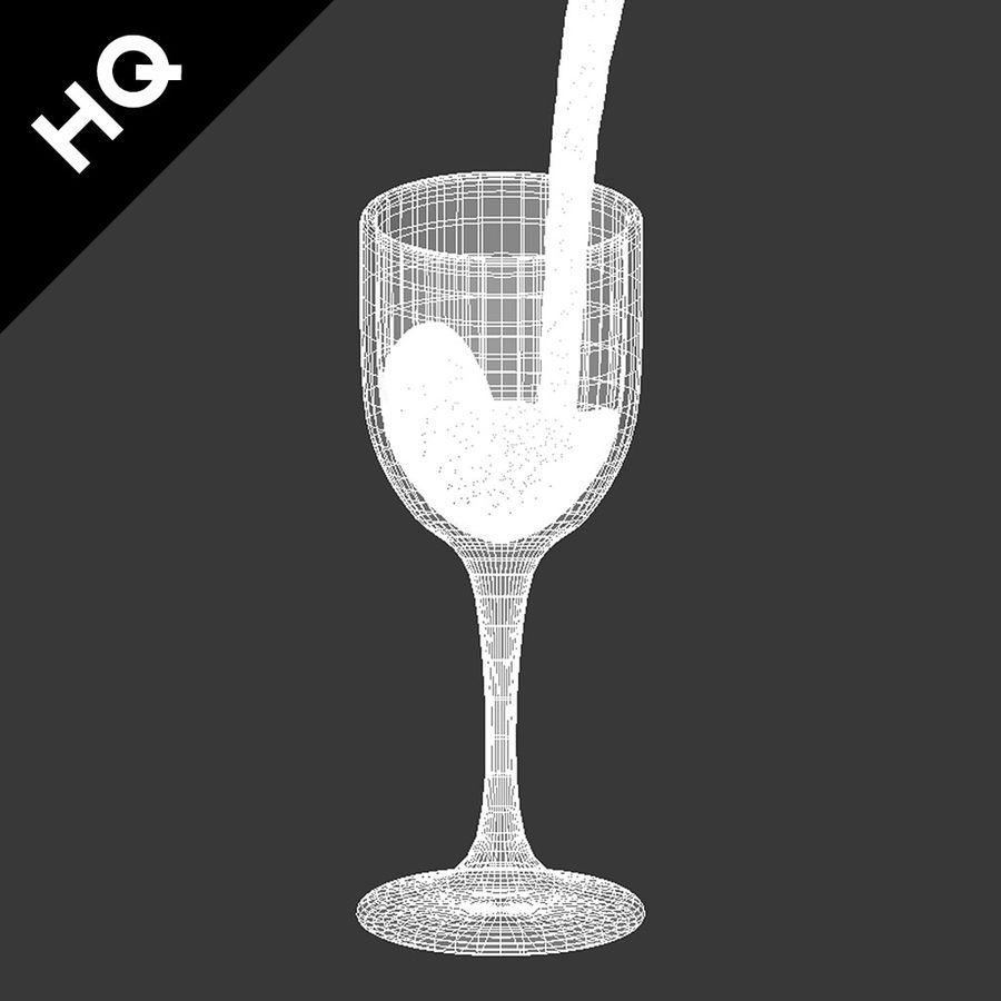 Confezione 4 versando il vino royalty-free 3d model - Preview no. 41