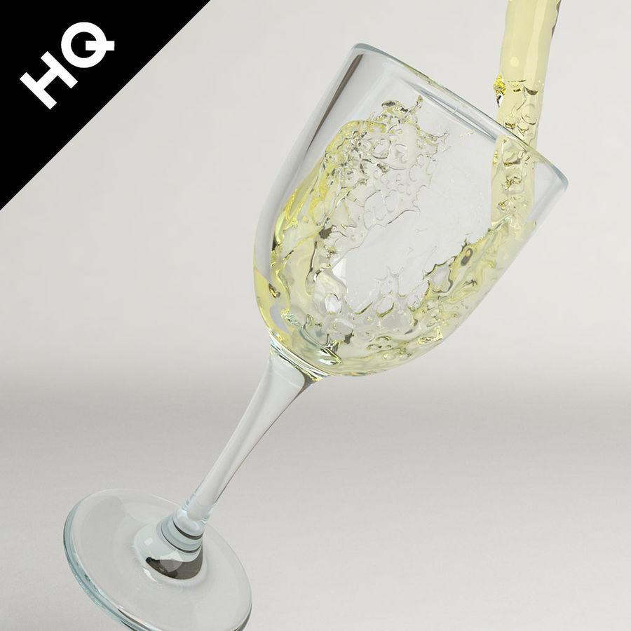 Confezione 4 versando il vino royalty-free 3d model - Preview no. 14