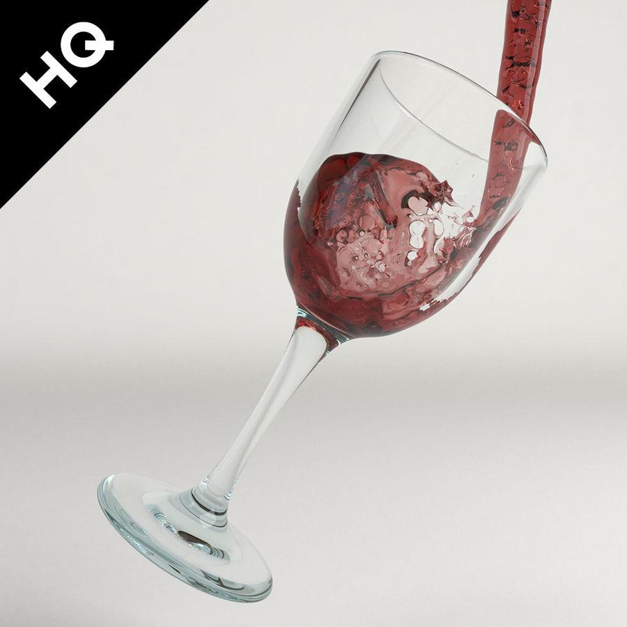 Confezione 4 versando il vino royalty-free 3d model - Preview no. 26