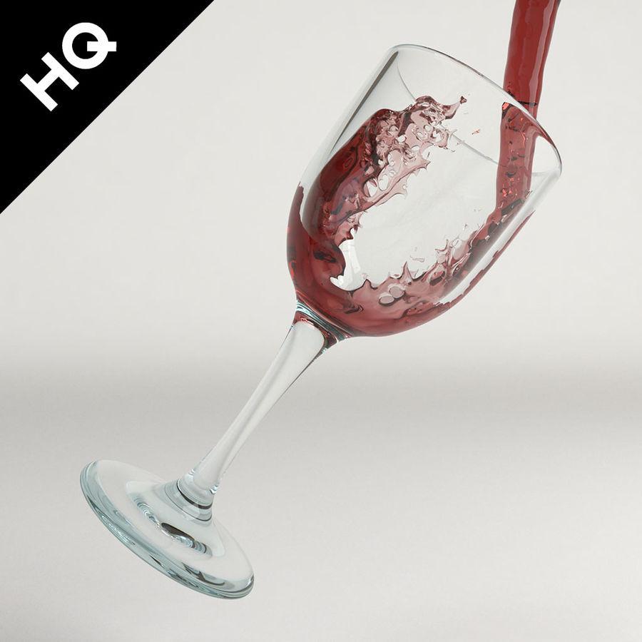 Confezione 4 versando il vino royalty-free 3d model - Preview no. 15