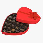 Heart Chocolate Box 3d model