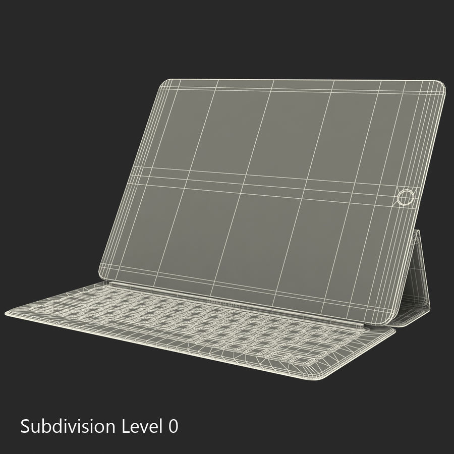 Ipad Pro 및 Apple Smart Keyboard royalty-free 3d model - Preview no. 43