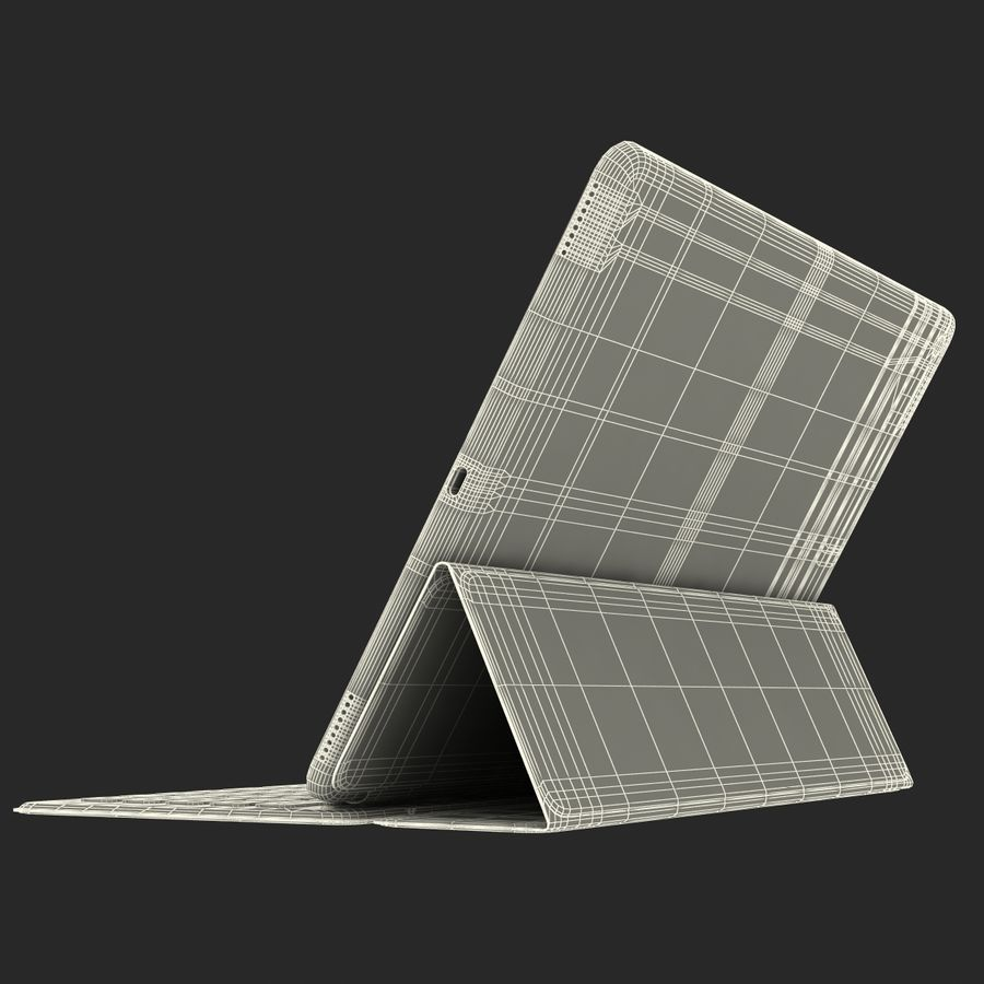 Ipad Pro 및 Apple Smart Keyboard royalty-free 3d model - Preview no. 52