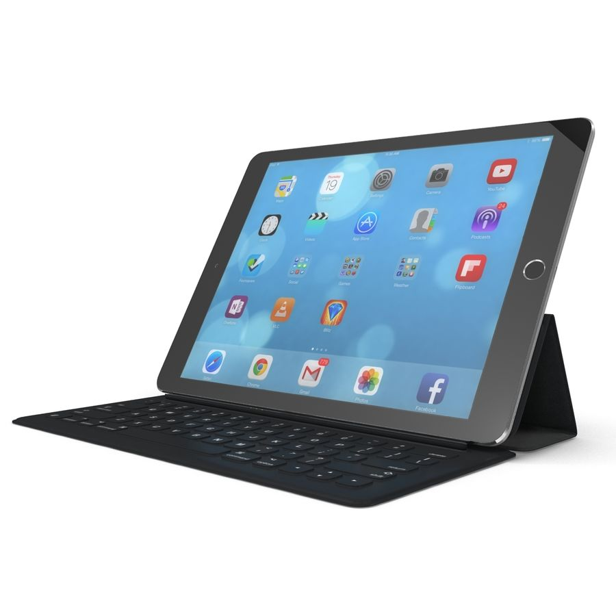 Ipad Pro 및 Apple Smart Keyboard royalty-free 3d model - Preview no. 5