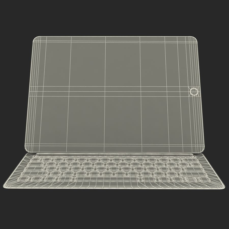 Ipad Pro 및 Apple Smart Keyboard royalty-free 3d model - Preview no. 51