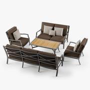 Outdoor loungeset 2 3d model