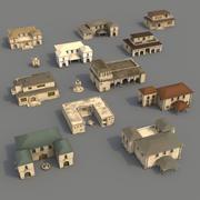 失われたアラビアの都市-内部の建物 3d model