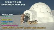 Cartoon Animation Film Set 3d model