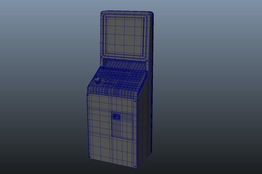 computer control station royalty-free 3d model - Preview no. 7