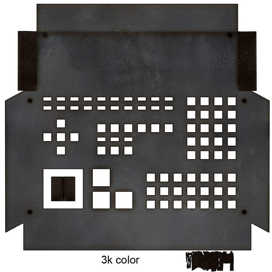 computer control station royalty-free 3d model - Preview no. 15