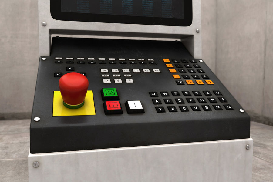 computer control station royalty-free 3d model - Preview no. 4