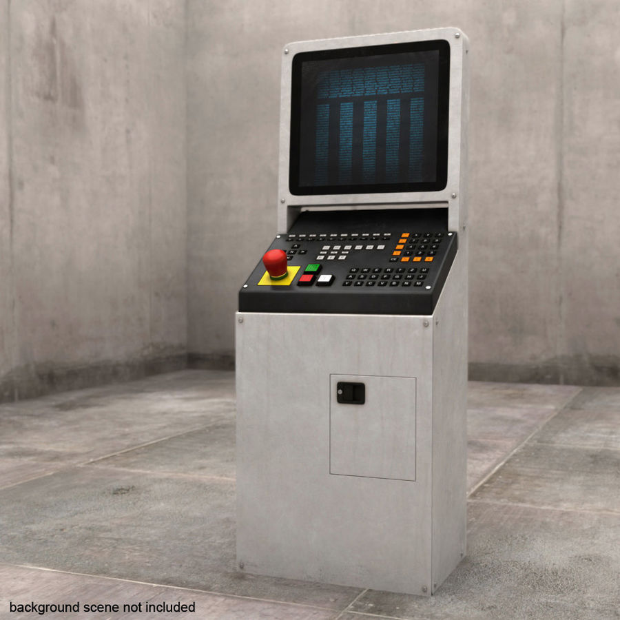computer control station royalty-free 3d model - Preview no. 1
