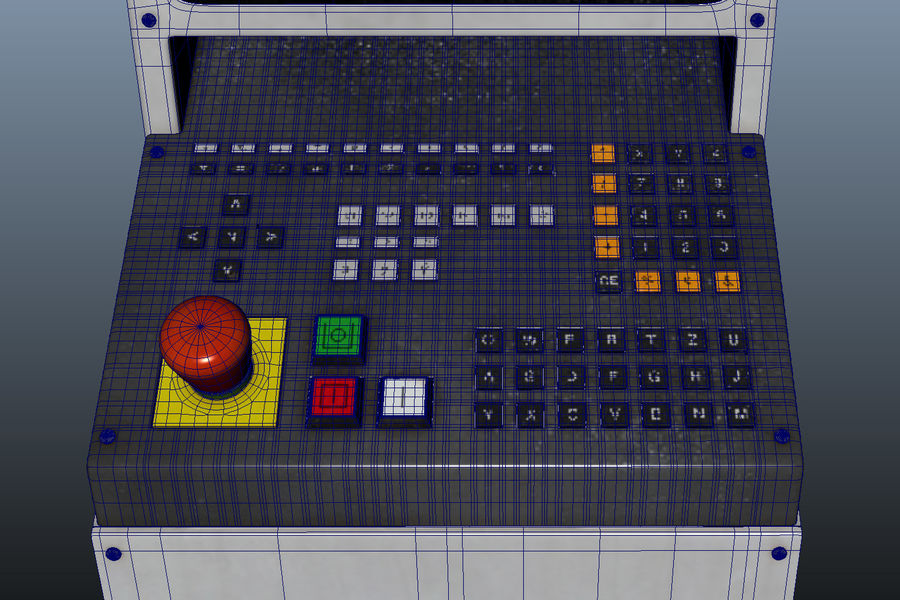 computer control station royalty-free 3d model - Preview no. 8