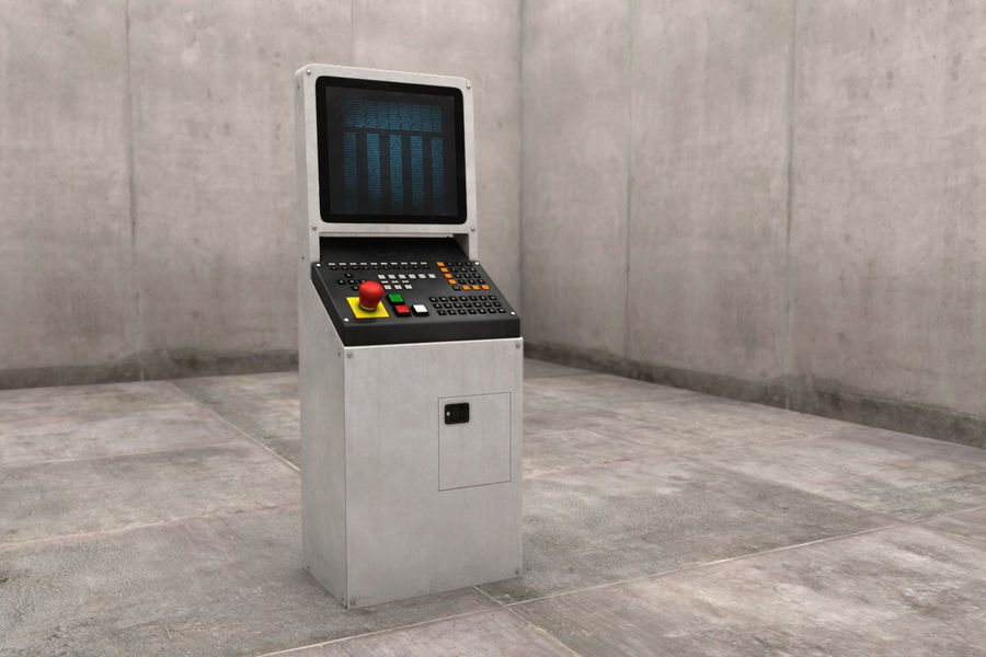 computer control station royalty-free 3d model - Preview no. 2